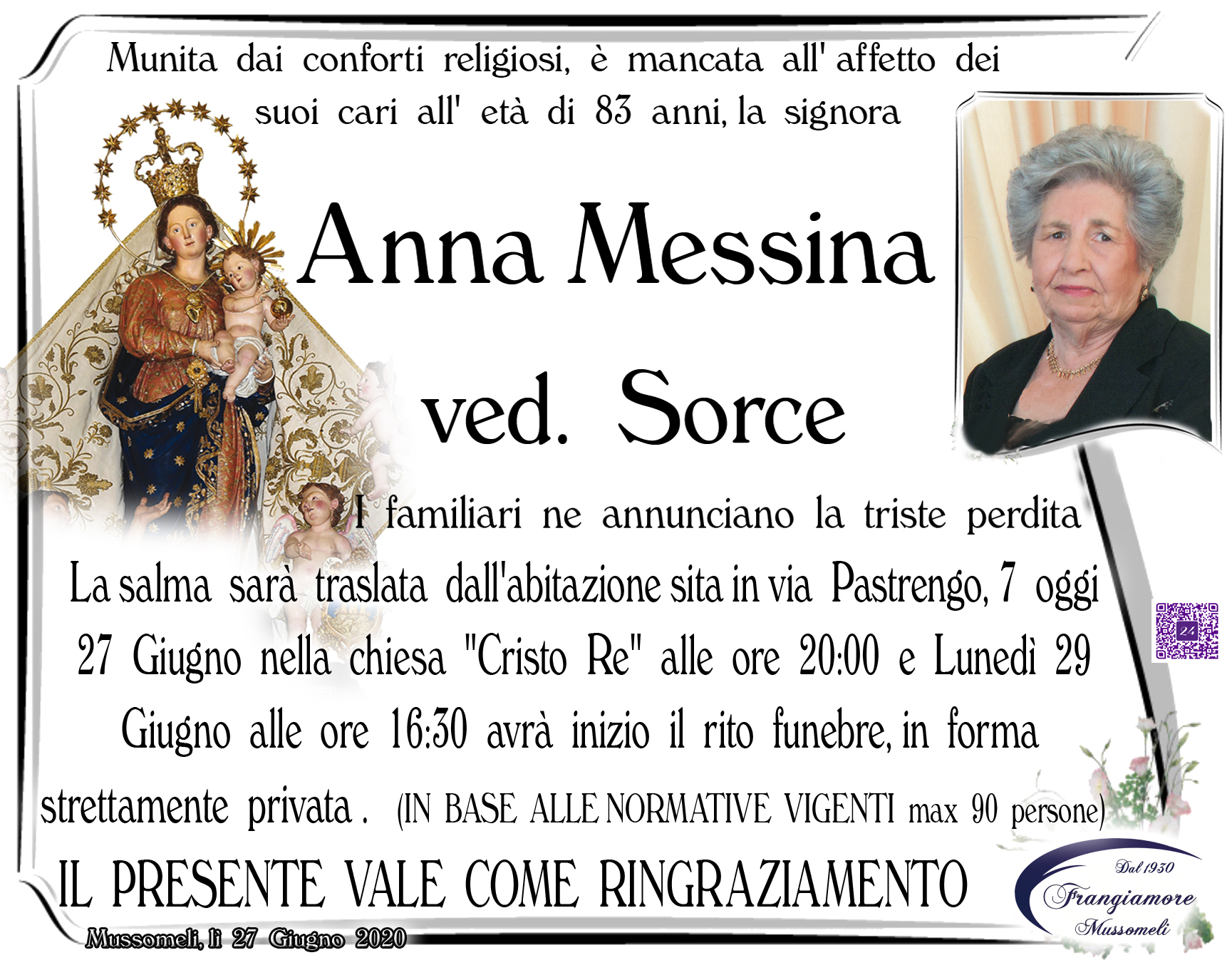 Anna Messina ved. Sorce